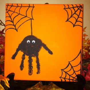 One of many adorable projects for a kid-friendly Halloween night.